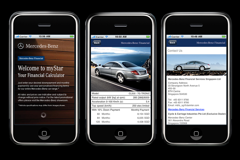Iphone app mystar for Mercedes benz financial payment address