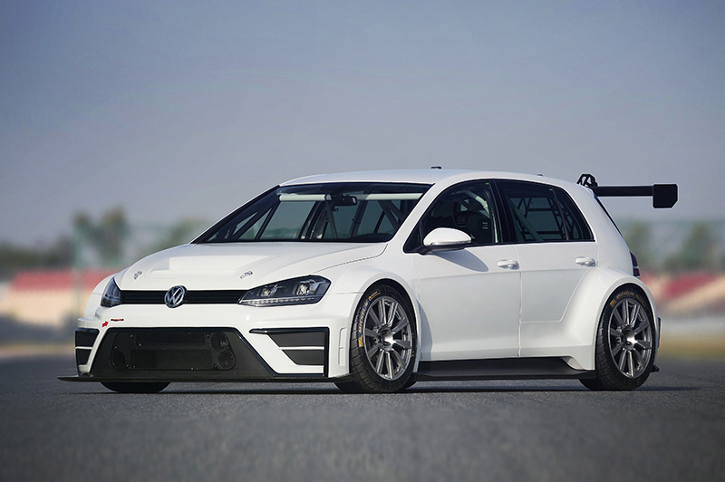 Mean and lean. This lightened Golf racing car is just like any other Golf (well, sort of) with front-wheel drive and a six-speed DSG gearbox.