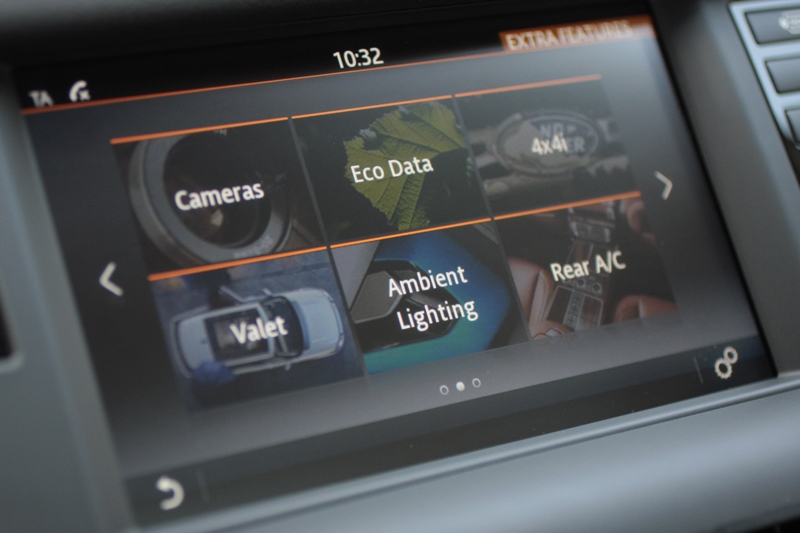 Graphic rich 8-inch colour touchscreen head unit another cool feature.