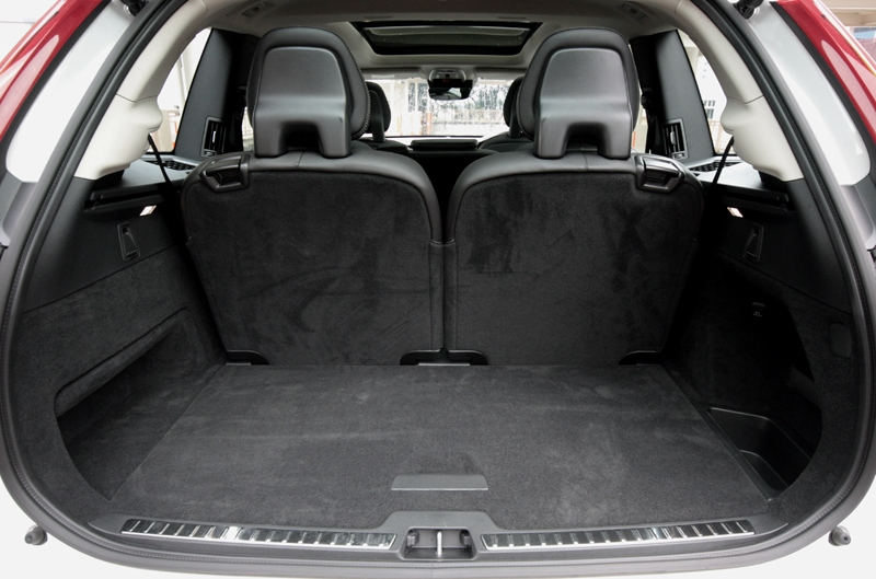 The third row seat folds flat, allowing more useful space