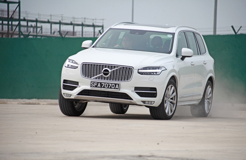 The XC90 seemed unfazed even when driven hard