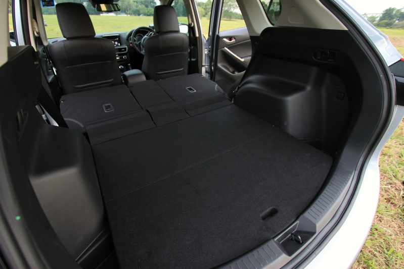 With the seats folded flat you can fit two mountain bikes in here