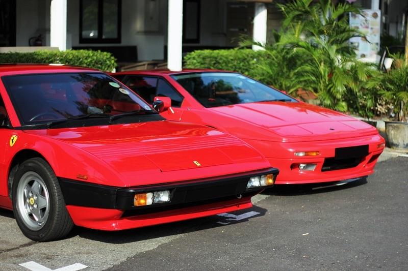 Quintessential '80s wedges; the Ferrari Mondial and Lotus Esprit