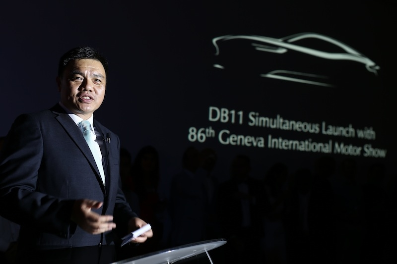 Mr Pang Cheong Yan addressing guests just before unveiling the DB11