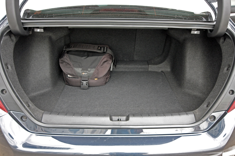 Honda Civic's boot is large by sedan standard