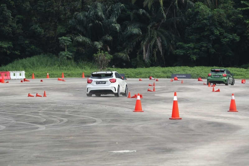 The instructors also took most of the participants on a wild taxi ride using the A45 AMG - those things sound damn lovely!