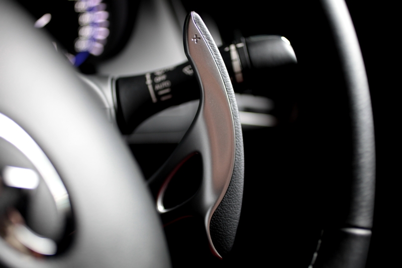 You get the GTR's paddle-shifter here as standard