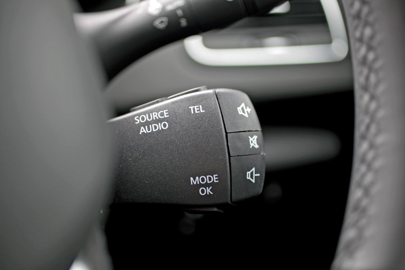 If there's one word to describe the audio control button, 'tacky' would be it
