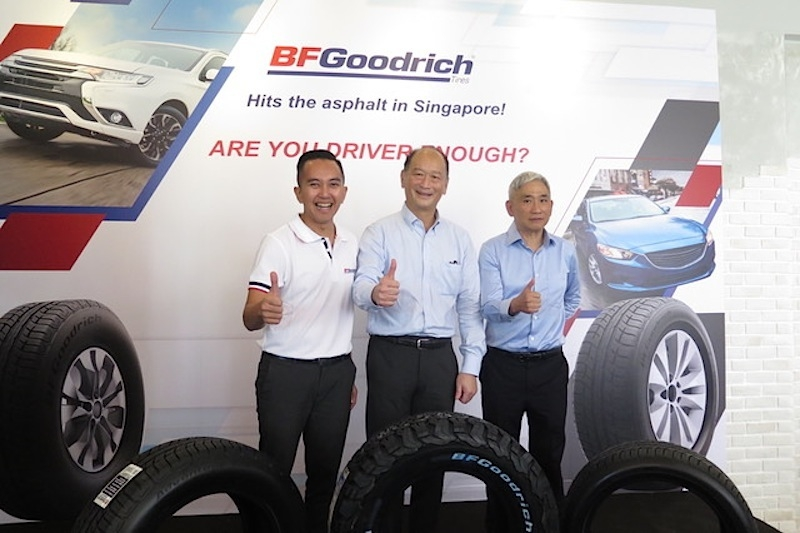 Left to right: Putu Yudha, Regional Marketing Director for Singapore, Malaysia and Indonesia; Chan Hock Sen, Michelin Singapore Country Director; Richard Ng, Managing Director of Chin Seng Hin Pte Ltd
