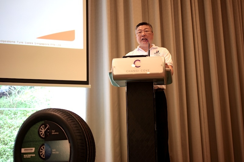 Mr Michael Tan, MD of Bridgestone Tyre Sales Singapore Pte Ltd