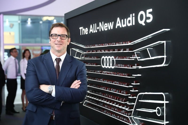 Jeff Mannering, Audi Singapore's MD, at yesterday's launch