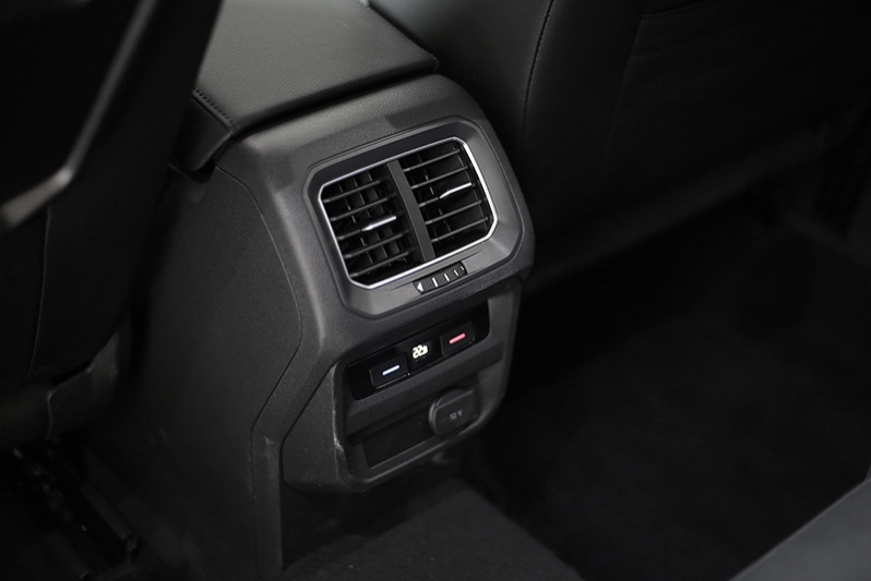 Rear air-con vents provide additional comfort for occupants