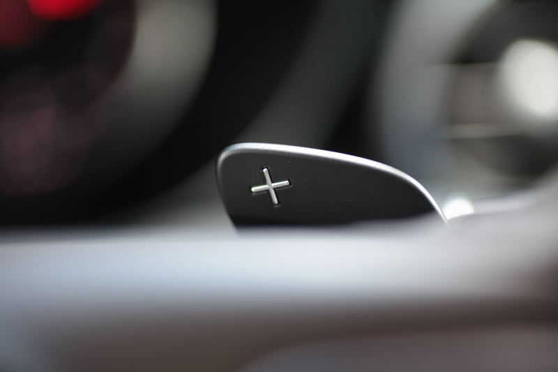Steering mounted paddle-shifters are standard issue