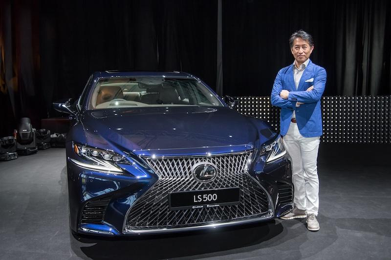 Koichi Suga, Chief Designer of the Lexus LS, with his masterpiece
