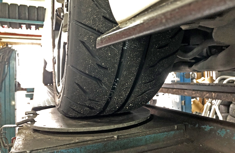 Tyres best enjoyed with some camber adjustment!