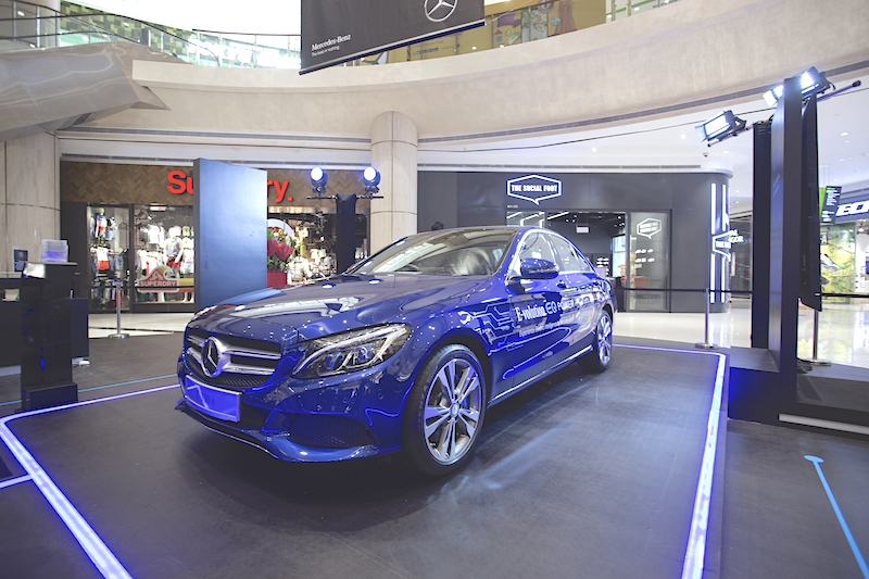 Also making its local debut is the C 350e; it is currently going through LTA's homologation