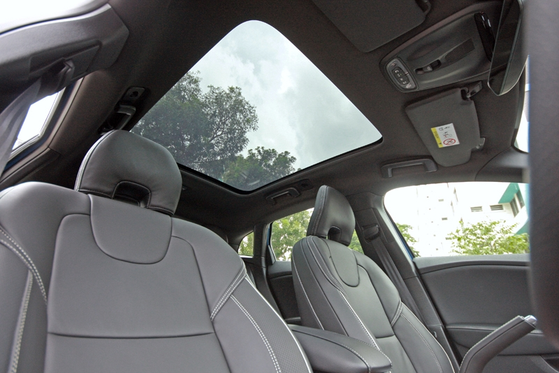 Large glass roof comes standard for the R Design variant