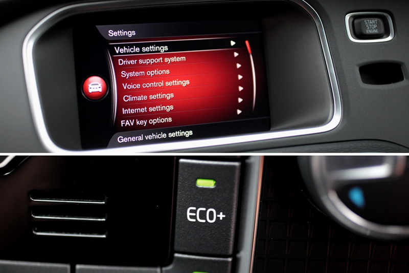 Bigger screen than the pre-facelift model; Volvo only offers default and Eco+ driving modes