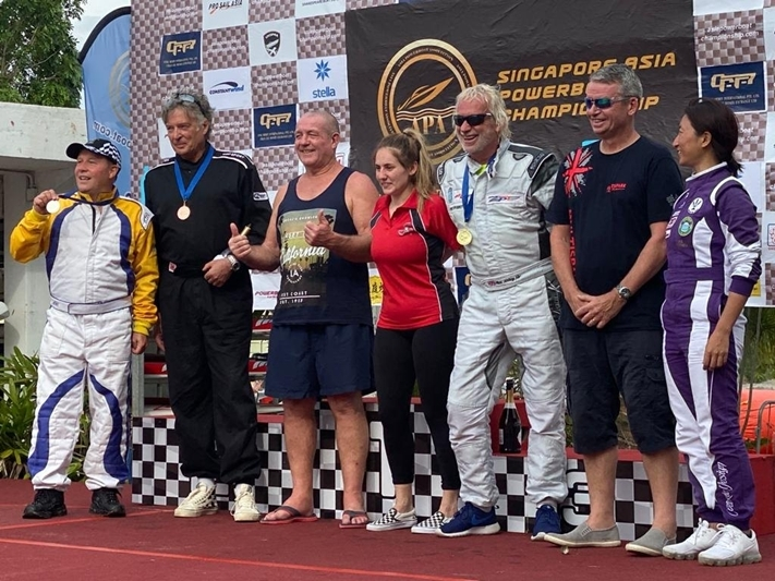 Left to Right: Mark Hayward, Campbell Jenkins, Brian Pelham, Charlotte Camsey, Miles Jennings, Dave Sheldon and Kiki Wong