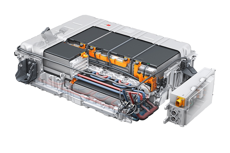 3D rendering of an Audi high voltage battery.