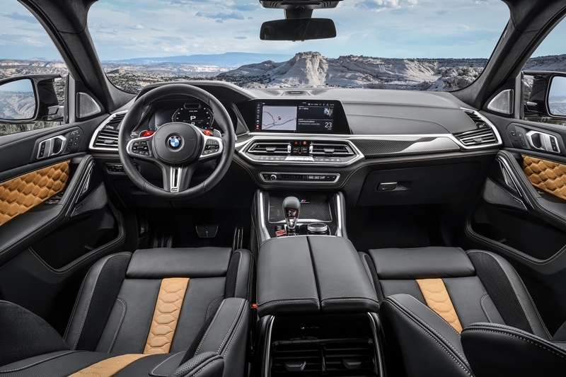 Inside the cockpit of the BMW X6 M Competition