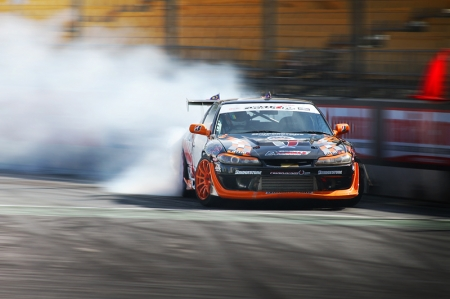 Nissan Silvia S15s or S13s with S15 front-conversions all a common weapon of choice in the 'world of sideways'.