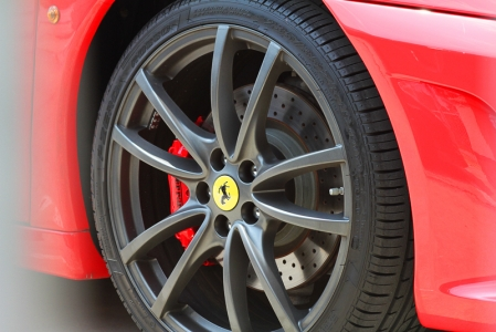 Carbon ceramic brakes on a Ferrari F430 with Sud wheels.