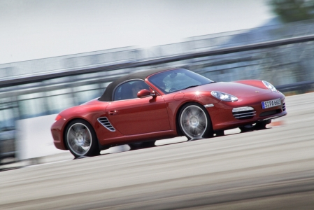 Next was the slalom course in the mid-engined Boxster S. Each driver was timed and the winner walked away with a prize at the end of the day.