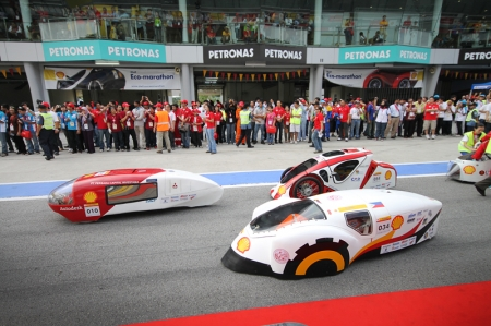 With the kick-off of the event in Asia on the 8th of July 2010, the Shell Eco-marathon has finally achieved the status of being a truly global event for the first time with 80 per cent of the teams making it on to the track for the inaugural Shell Eco-marathon ASIA 2010 which is comparable to teams who participate in Europe and the United States. This competition has been running in Europe since 1985 and the United States since 2007 and the objective of the competition is to challenge students to design, build and drive a vehicle that can travel the furthest distance on the least amount of fuel.