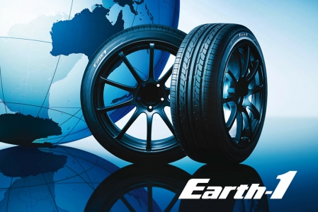 Employing this newly developed compound, Earth-1 achieves a better balance between the conflicting two measures of performances. Grip force is obtained through 'Orange Oil', and rolling resistance is reduced through natural rubber. Low rolling tyre resistance saves fuel hence reduces Co2 emission into the environment. This unique design also realizes 'Multi-Performance' with its improvements made to performance related to comfort, quietness, and uneven wear resistance. Earth-1 tyres biodegradable property is simply an ingenious invention that can truly be called an ECO tyre.