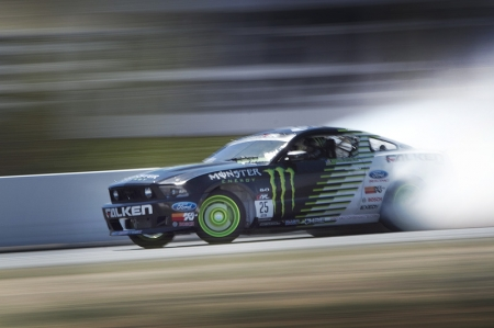 The final match-up pitted Vaughn Gittin Jr. in his Monster Energy/Falken Tire Ford Mustang against Ryan Tuerck in the Mobil 1/Maxxis Pontiac Solstice. Gittin edged out Tuerck for his second victory of the season increasing his lead overall in the championship standings with only one event remaining in the season.