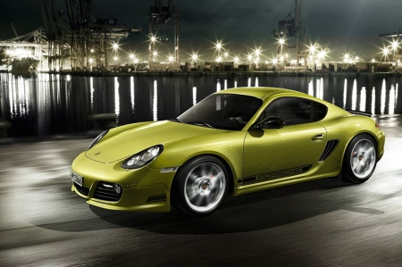 The newest member of the mid-engined Cayman family features the highly efficient 3.4-litre, flat six-cylinder Direct Fuel Injection (DFI) boxer engine found in the Cayman S, but it has been tuned to produce an additional 10 hp. With a six-speed manual transmission, the Porsche Cayman R sprints from a stand-still to 62 mph in 5.0 seconds, two-tenths of a second faster than the Cayman S.