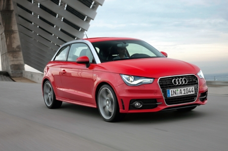 "The new Audi A1 completed the Audi hat-trick in this year's ""Auto Trophy"" poll,