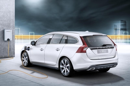The Volvo V60 Plug-in Hybrid will be presented at the 2011 Geneva motor show. A production-ready car, the V60 Plug-in hybrid has carbon dioxide emissions of below 50 g/km. The car can be driven on diesel power alone, as a diesel-electric hybrid, or as an electric-only car - technology that no other manufacturer can currently offer. The plug-in hybrid, which will be launched on the market in 2012, is the result of close cooperation between Volvo Cars and energy supplier Vattenfall.