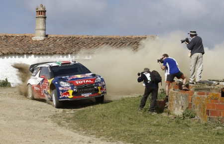 Loeb won the Power Stage which is the televised live stage at the end of the rally, with bonus points available to finish second overall. The three points he scored for winning the stage, combined with his 18 points for finishing second, placed him on equal footing with Ford's Mikko Hirvonen at the top of the drivers' standings after three rounds.