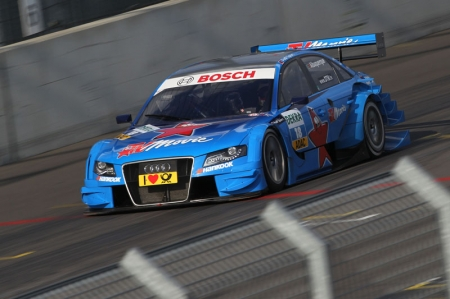 The two DTM newcomers Filipe Albuquerque and Edoardo Mortara from Audi Sport Team Rosberg will be driving A4 DTMs in light blue hues of television magazine