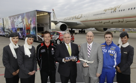 "V8 Supercars Chairman Tony Cochrane said, ""V8 Supercars is very pleased to announce Etihad Airways as our official international airline partner. It is the first airline partner for our sport and we believe it is a fitting partnership between a world-class operator and a world-class sport. Cochrane continued, ""Earlier this year approximately 500 V8 Supercars personnel flew to Abu Dhabi on-board Etihad flights for the Yas Marina V8 400 and our experience was second to none. We look forward to V8 Supercar fans being given access to exclusive deals and offers as a result of our new partnership with the airline."" V8 Supercars was recently given international status by the FIA, the governing body of world motor sports, which means it can extend to another five destinations outside Abu Dhabi, Australia and New Zealand. In this context, Etihad's partnership matches the huge growth potential and future international destinations of the sport. Globally, Etihad's partnership with V8 Supercars will be highlighted through signage and promotions at select V8 Supercar events and content on Etihad's in-flight entertainment system. In the coming weeks, V8 Supercars' website will also carry links to special offers on Etihad Airways flights around the world."