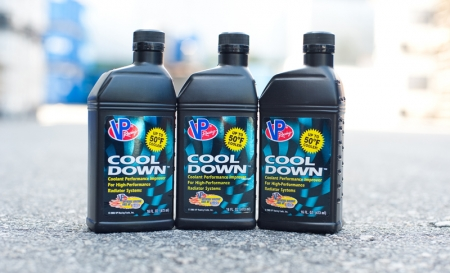 VP Racing Fuels' Cool Down is designed to compliment your ride's coolant by reducing the surface tension of water by a factor of two, which translates to the formation of smaller vapour bubbles. Large vapour bubbles on the metal surface create an insulating layer, which impedes heat transfer.