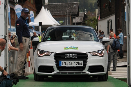 The A1 e-tron contains technology that Audi's development engineers are using to study the mobility requirements for such a future-oriented concept. The technological basis includes an electric motor with a maximum output of 75 kW that is powered by a lithium-ion battery. The battery features a 12 kWh capacity and can be completely charged in 30 minutes (quick charge), or in less than three hours (standard charge). It offers a range of 50 kilometres. To prevent drivers from being stranded by an empty battery, the A1 e-tron also comes equipped with a combustion engine, which can charge the battery as needed. The one-disc rotary engine (254 cc) is located under the trunk floor; it provides 15 kW of output intended solely to charge the battery, rather than to directly power the wheels.