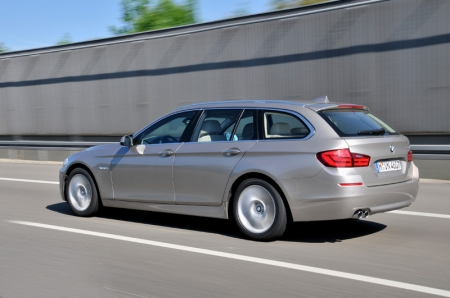 "An award-winning car, the new BMW 5 Series Touring has been honoured with numerous awards since its inception, including; the special ""Red Dot design award 2011: Best of the Best"" prize for top design quality; the coveted iF award for outstanding product design 2011; and iF Gold Award 2011 for outstanding design."