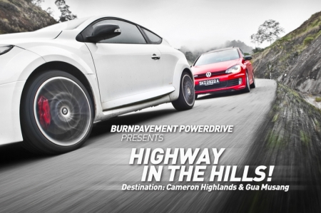 No where to drive your car hard in Singapore? Fret not, Burnpavement.com is taking you to where the roads will welcome you with open arms! Under the safety of 4 support cars, we will guide you to some of Malaysia's finest driving roads.