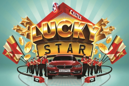 Every $30 nett spent gives customers a chance to try their luck with Caltex's Lucky Star Promotion. Simply key your total expenditure and your vehicle's registration number into the iPad mini at the service kiosks, and print out your lucky draw coupon and a set of 4 winning Lucky Numbers! If your slip has 4 Lucky Stars, or any permutation of your vehicle's registration number, you win $100 and $500 Star Cash respectively. If you're lucky enough, you might win $1,000 Star Cash, when your Lucky Numbers match up to those of your car.