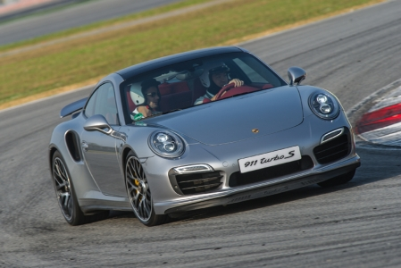 Yet, the stupendous power of the Turbo S is jaw-droppingly massive. Like the C4, it is equipped with 4WD and inspires confidence even when you building us crazy speeds. Porsche's excellent 7-speed PDK dual-clutch gearbox is the sole transmission available on the Turbo and Turbo S. You could use the flappy paddles to switch gears, but we left the gearbox to its own devices and focused on coming back to the pits in one piece.