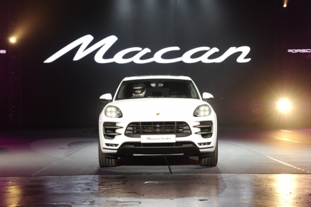 """Today we celebrate the premiere of a truly remarkable sports car, the Porsche Macan. Designed with easy and yet powerful agility in mind, the Macan's impressively lithe and striking silhouette and vibrant lines live up to Porsche's racing heritage"