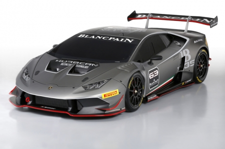 The Huracán Super Trofeo adopts the direct-injected V10 engine from the road car, delivering 620 horsepower in race trim, and a rear-drive set-up meant to accelerate the series racers' transition into GT racing. The vehicle weighs an ultra-light 1,270 kg, attributed to the hybrid carbon fiber/aluminum chassis and strict motorsports weight reduction.
