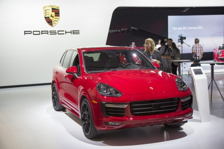 The Cayenne GTS develops 440 hp  and has an even sportier tuned PASM chassis, with a ride height lowered by 24 millimetres providing a further boost to driving performance.