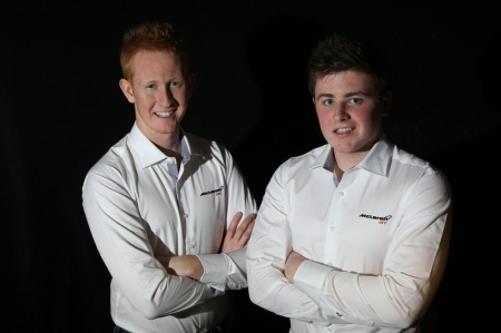 Drivers 23 year-old Ross Wylie from Scotland (left) and 19 year-old Andrew Watson from Northern Ireland (right) will work with McLaren GT, and the existing trio factory drivers of Rob Bell, Kevin Estre and Alvaro Parente to further enhance their skills and knowledge for a competitive career in GT racing.
