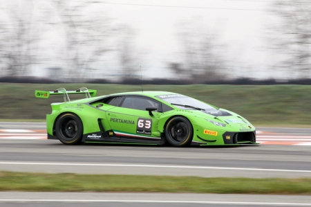 In this extremely important two-day test, laps were completed by all six official Lamborghini Squadra Corse drivers involved in this year's Blancpain Endurance Series. Fabio Babini, Jeroen Mui and Andrew Palmer joined the  track on Wednesday while Adrian Zaugg, Mirko Bortolotti and Giovanni Venturini were all out on the circuit .In a demanding session which involved more than 45 cars, the Lamborghini Huracan GT3 demonstrated its potential as it covered an impressive number of laps. The Huracan GT3's next outing will be in Vallelunga between 1st to 2nd April for a final test before the Monza opening round on 12 April 2015.