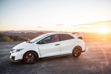 Billed as a 'race car for the road', the new Honda Civic Type R is the most extreme and high-performing model to ever wear the acclaimed red 'H' badge. With a high-revving all-new 2.0-litre VTEC Turbo engine, advanced new suspension systems, stand-out function-led styling and a new +R track mode it is set to bring new standards to Europe's high-performance front-wheel drive hatchback segment. Peak power output is 306 bhp, with the engine red-lining at 7,000 rpm, delivering a class-leading top speed of 270 km/h.