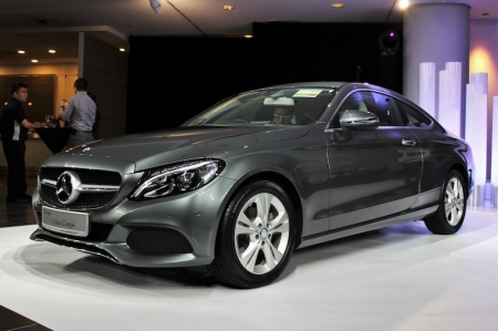 The latest C-Class Coupe is based on the current W205 generation model, and features a much swoopier, flowing body than before.  And, just as its sedan counterpart mimics the styling of the flagship S-Class limousine, so too does the C-Class Coupe closely resemble the svelte S-Class Coupe, particularly at the rear.